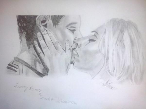 Scarlett Johansson, Jeremy Renner by Vanus94